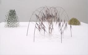 Christiane Löhr, from left, Kleine Kuppel, 2008, grass stalks, ...