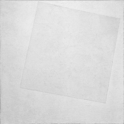 Monochromatic Composition: Kazimir Malevich, White on White, 1918.