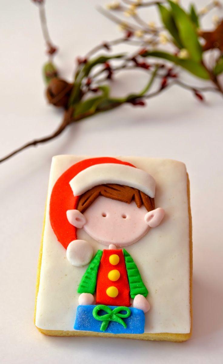 Christmas cookies, fondant, Santa Claus, Reindeer, Rudolph, Penguin, Snowman, Polar Bear, helper, Elf