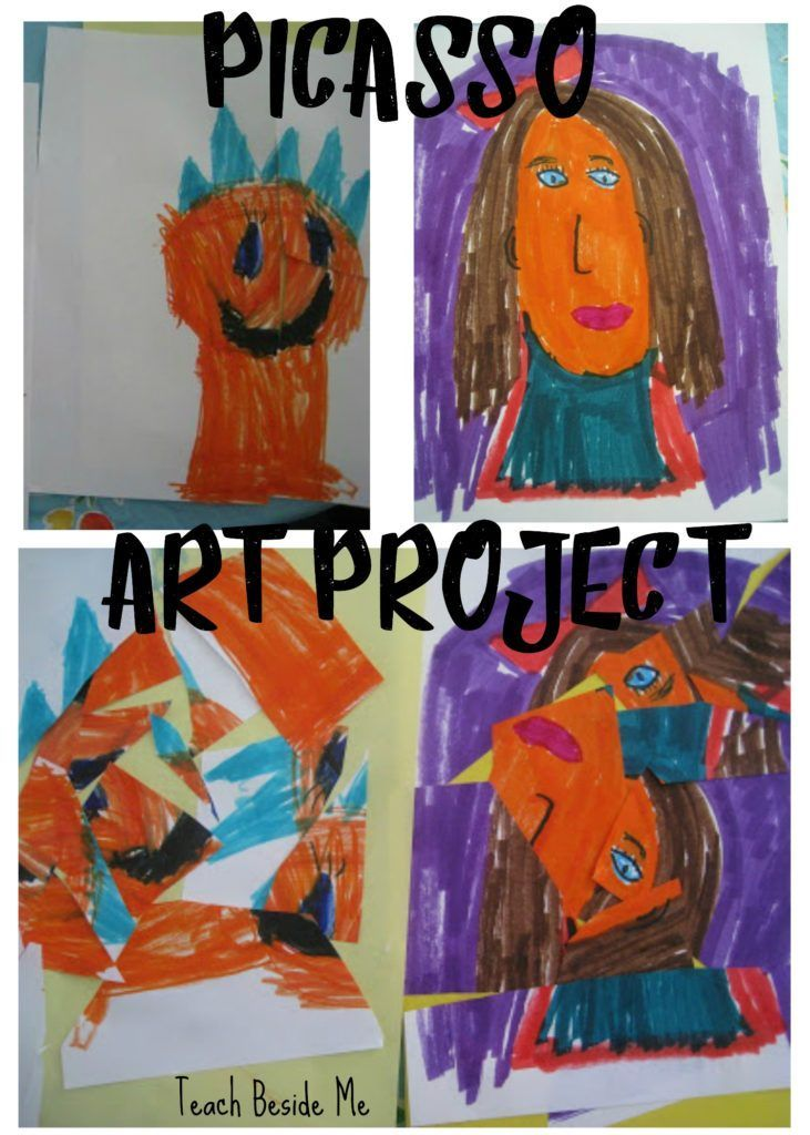 Learn about Pablo Picasso and his style of art. Teach your kids all about him with this Picasso art project and teaching resources!