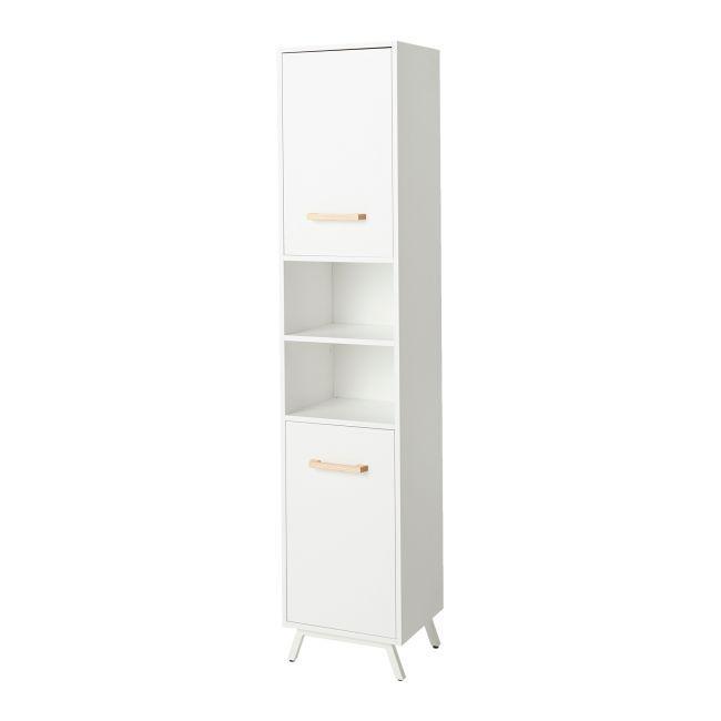 Slupek Lazienkowy Goodhome Ladoga 190 X 36 X 40 Cm Bialy Slupki Locker Storage Furniture Home Decor