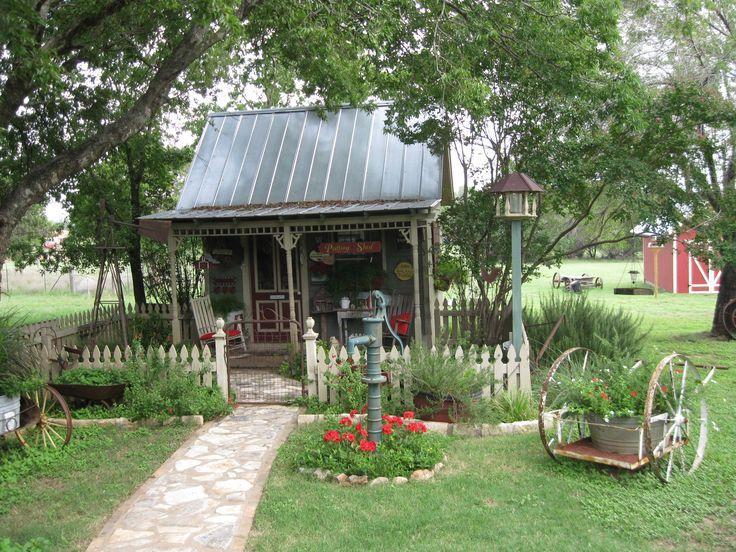 Cute Garden shed  primitives  Pinterest