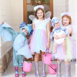 Kids Light Up Rainbow Fairy Halloween Costume In 2020