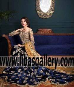 Luxurious Special Occasion Dress features marvelous and magnificent embellishments for Engagement and Walima.Feel like the princess you deserve to be in this elegant #ArjumandBano Beautiful wedding dress, this will be one of the gorgeous dresses. Dream in Blue. www.libasgallery.com #onlineshop #onlineshopping #onlinestore  #UK #USA #Canada #Australia #SaudiArabia #Norway #Dubai  #Norway #Sweden #NewZealand #Austria #Switzerland #Germany #Denmark #France #Ireland #Mauritius #Scotland…