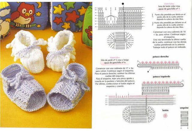 Solo esquemas y diseños de crochet: bebe