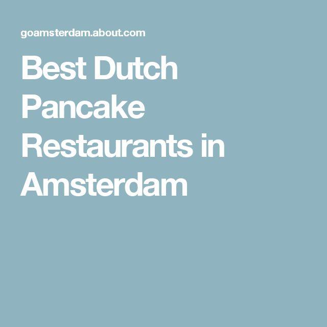 Best Dutch Pancake Restaurants in Amsterdam