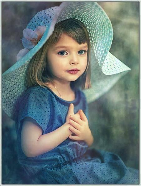 Belleza azul cute face
