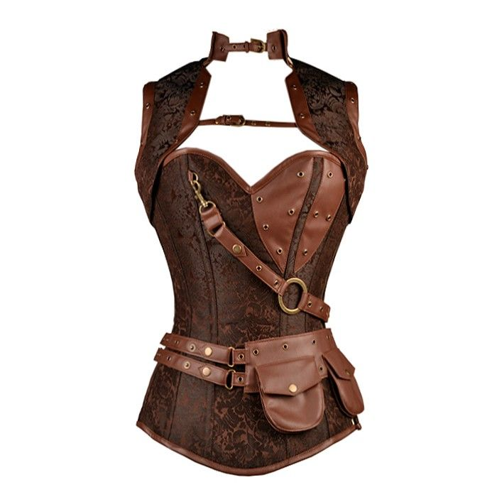 Warrior princess for the day?  Brown Steampunk Corset with Jacket | Steel Boned Corsets | Corsets