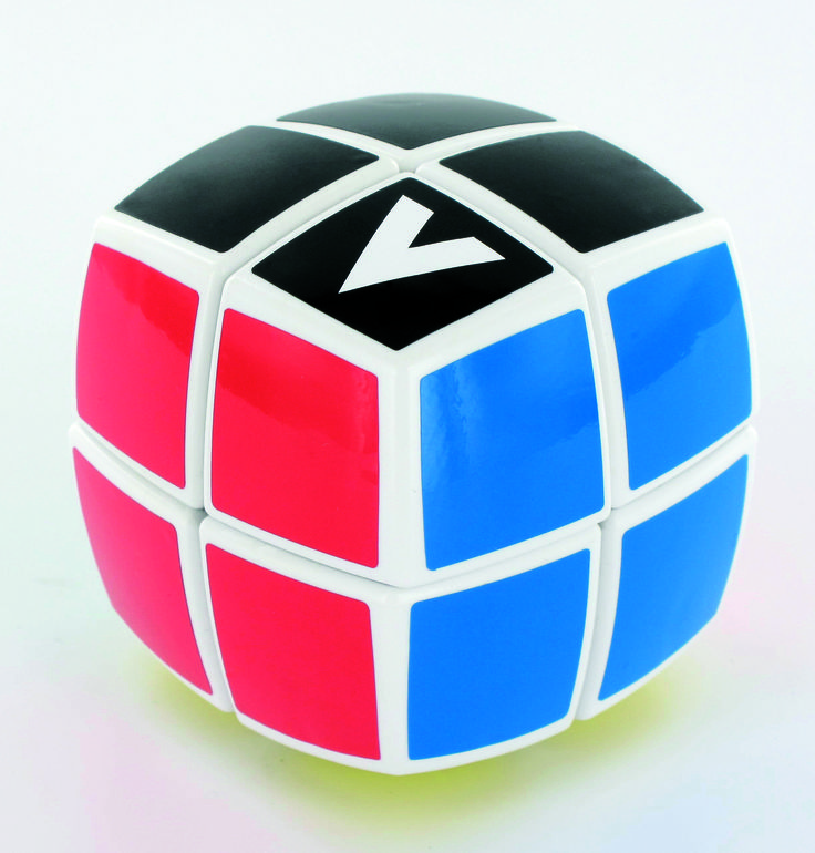 V-Cube 2 Layers Pillow 2x2x2 - rotational Cube Twisty Puzzle Game! BAY the smallest version of the V-CUBE™ family! This is the essential pillow-shaped version in WHITE! V-CUBE 2™ is a multicolored, two-layered cube with exceptional quality and incredibly smooth rotation.