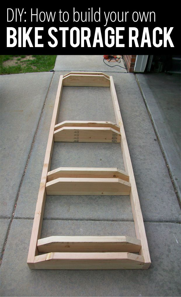 How to build your own bike storage rack