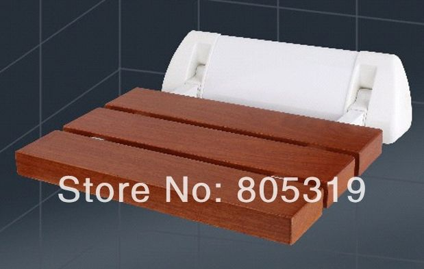 (79.00$)  Buy here - http://aincr.worlditems.win/all/product.php?id=1687671921 - Solid wood folding shower seat spacing saving wall mounted morden seat