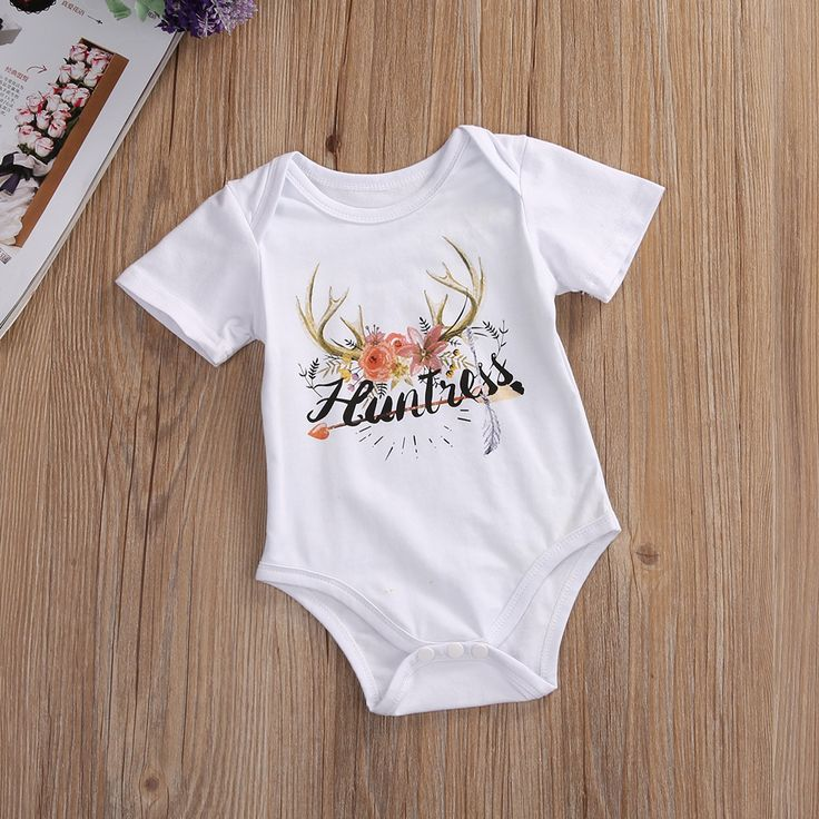 >> Click to Buy << 2017 Newborn Baby Girl Boy Clothes Summer Short Sleeve White Deer Cotton Baby Romper Jumpsuit Playsuit Outfits New Arrival #Affiliate