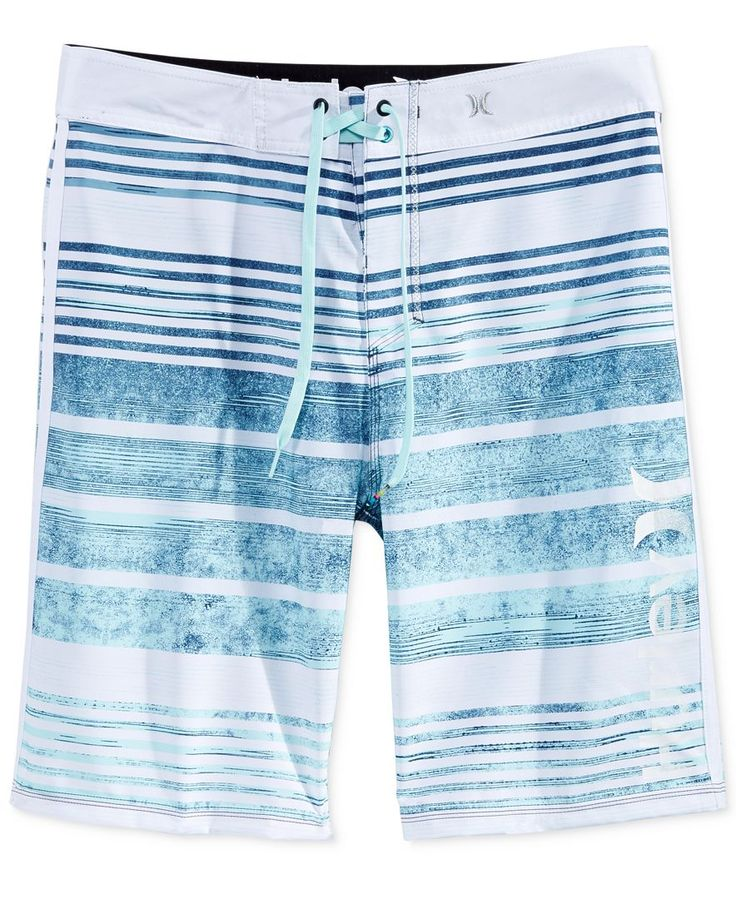 Dive into superior surf style and comfort with these Hightide stripe boardshorts from Hurley, featuring lightweight Phantom stretch fabric and a water-repellent finish to keep you moving fast and free