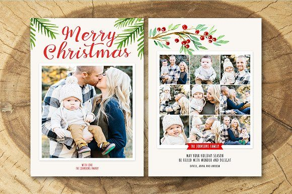 Christmas Card Template 019 by Salsal Design on @creativemarket