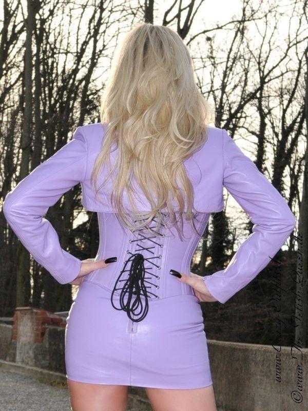 Purple corset and micro mini Rock. Purple haze, Purple rain!