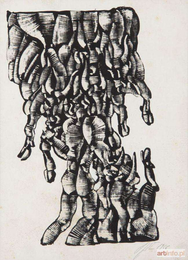 Roman OPAŁKA ● Ilustracja do Gilgamesza, 1966 r. ●