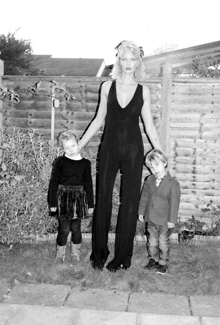 black strapless jumpsuit Ksenia Maximova for I Love You Magazine Winter 2011 by Rosa Rendl
