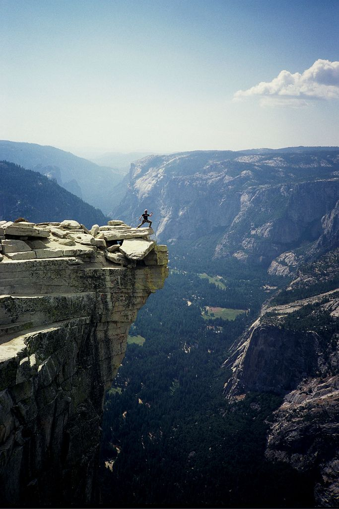 On top of Half Dome, Yosemite National Park, CA.