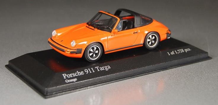 1 43 minichamps pma model porsche 911 targa 1977 orange. Black Bedroom Furniture Sets. Home Design Ideas