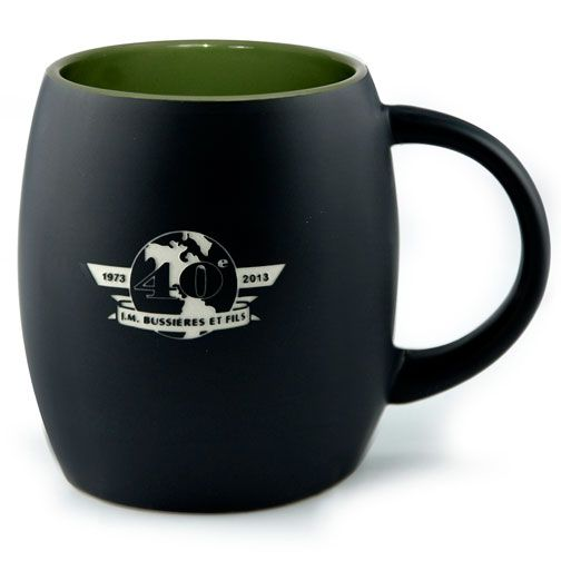 The Black Pearl Mug 14 oz capacity - Deep Etched, hand wash only | rushIMPRINT.com