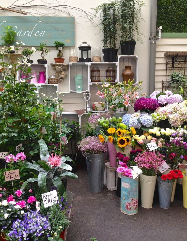 flower stall at Borough Market, London