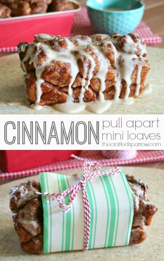 Cinnamon Pull Apart Mini Loaves - thecraftedsparrow.com