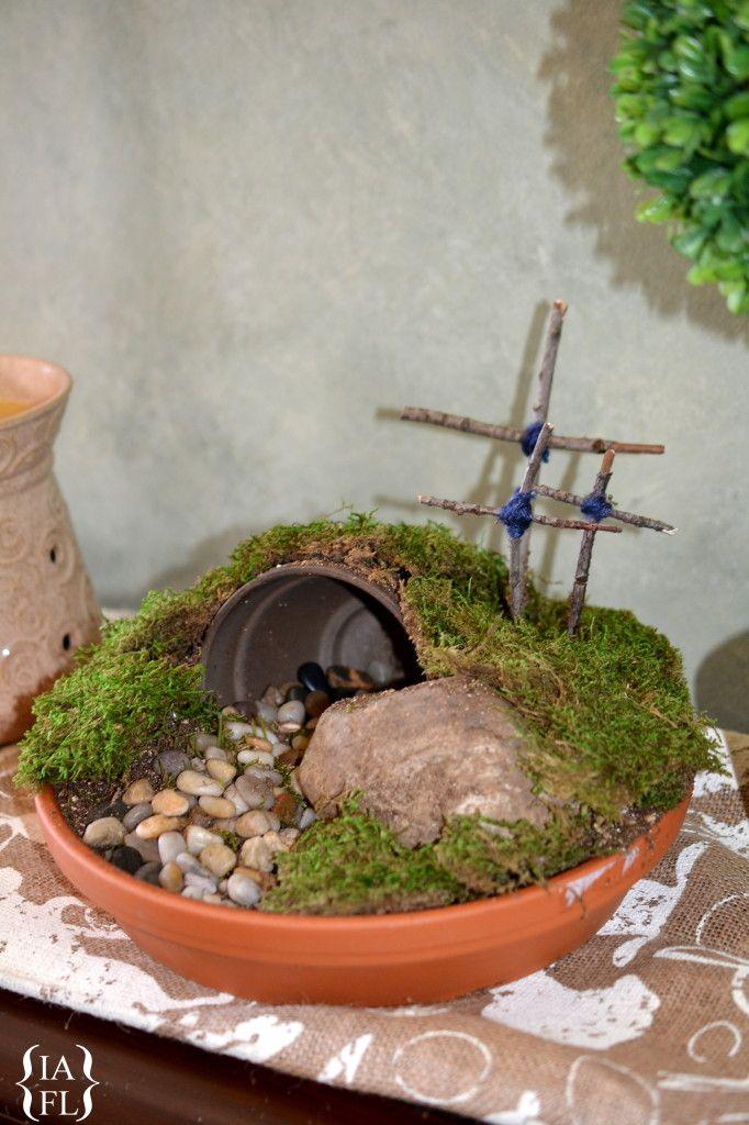 Easter Garden Craft Ideas Part - 17: Easter DIY Craft - How To Make A Resurrection Garden - Itu0026 A Fabulous Life