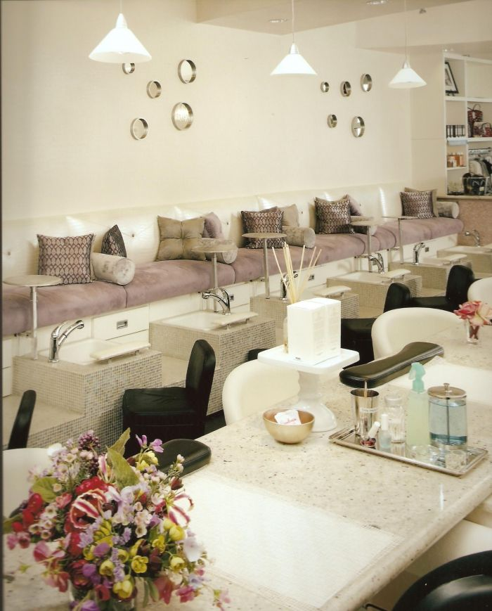 nail salon pedicure lounge interior design idea in scottsdale az