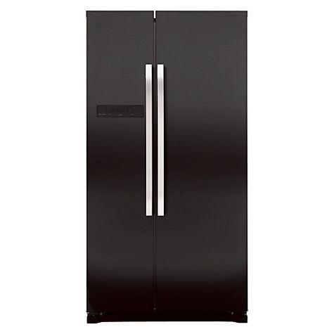 Buy John Lewis JLAFFB2012 American Style Fridge Freezer, Black Online at johnlewis.com