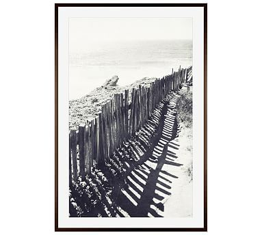 "Beach Fence by Lupen Grainne, 28 x 42"", Wood Gallery Frame, Espresso, Mat"
