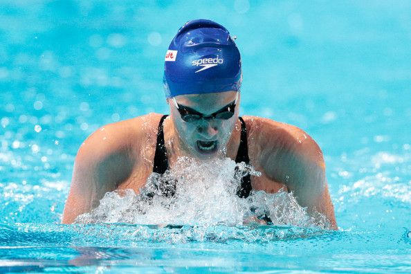 Aimee Willmott of Great Britain competes during the Swimming Women's 400m Individual Medley preliminaries heat two on day sixteen of the 15th FINA World Championships at Palau Sant Jordi  on August 4, 2013 in Barcelona, Spain.