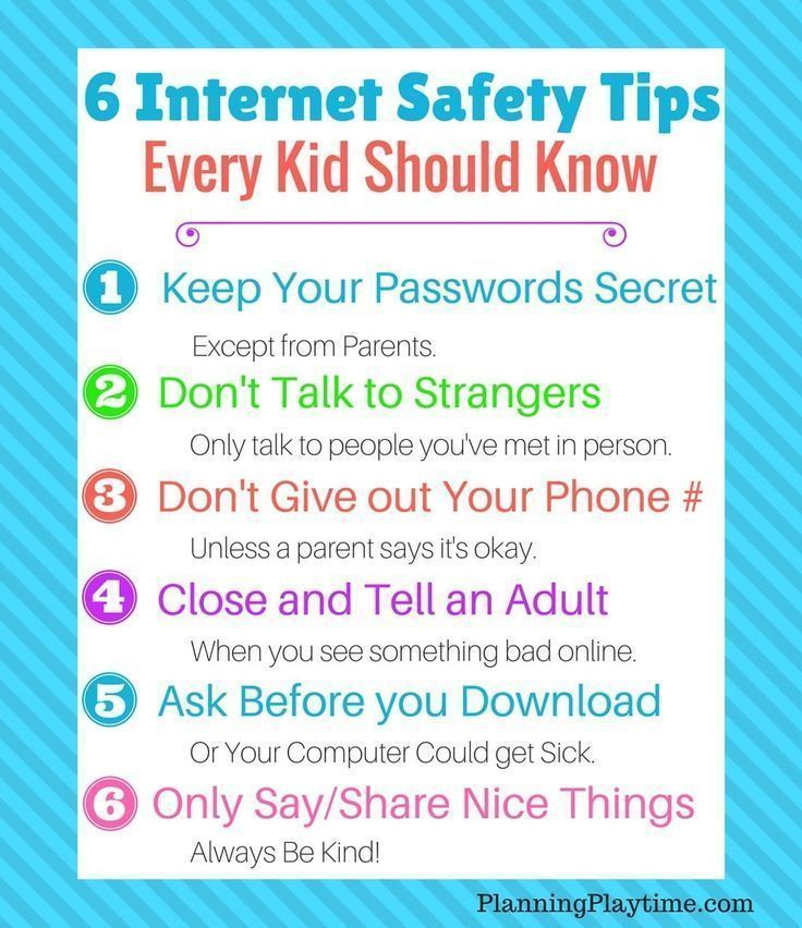 Safety Tips Every Kid Should Know Planning Playtime In 2020 Internet Safety Tips Internet Safety Internet Safety For Kids