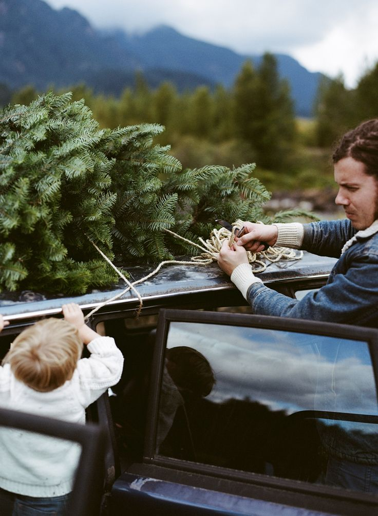 Josh Garrels and son photographed by Parker Fitzgerald for Kinfolk Magazine's Christmas issue.
