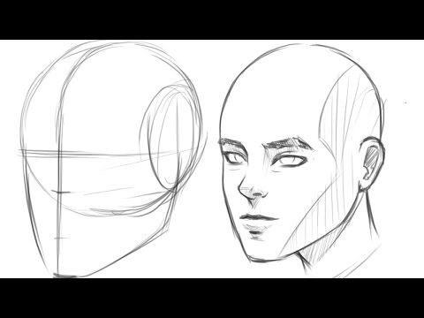 How to Draw a face for beginners step by step from side
