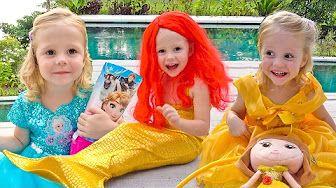 ВЛОГ создали нового питомца Розочка и покупаем платья принцессы и наряды для Тролли из мультфильма - YouTube