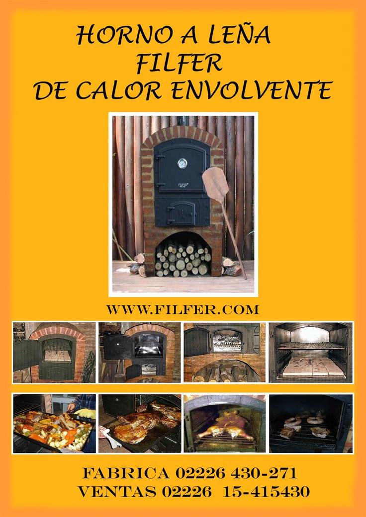 Hornos Filfer  Leña:  web: www.casamilagros.com.ar