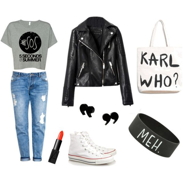 """""""Black, white and jeans"""" by innooka on Polyvore"""