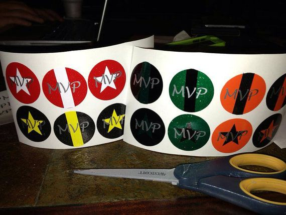 MVP Roller Derby Awards for Blockers and Jammers - Helmet Stickers