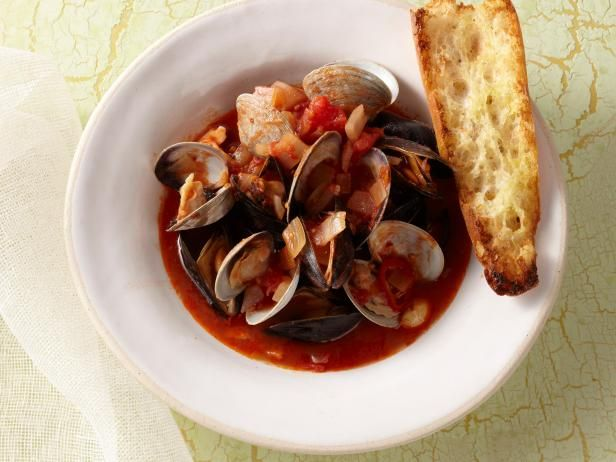 Mussels and Clams with Spicy Tomato Broth (Used cilantro/chives instead of parsley + added cumin)