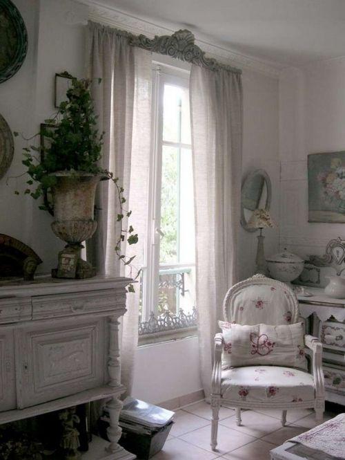 стул, страна, шторы, декор, дизайн, интерьер, комната, комнаты, белый