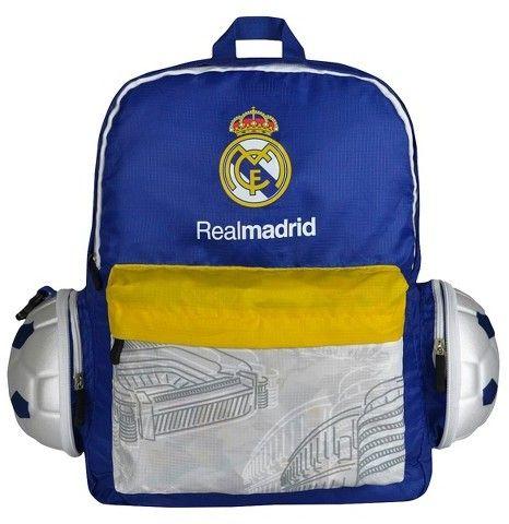 International Soccer La Liga Real Madrid CF Collapsible Soccer Ball Backpack