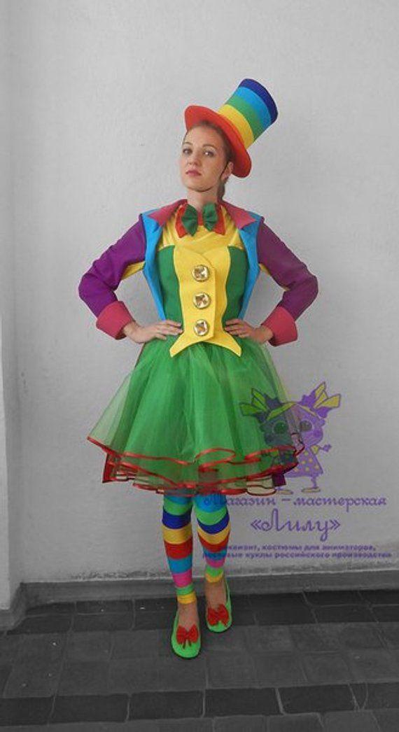 Rainbow Clown Girl Animator Actor Suitcosplaymasquerade