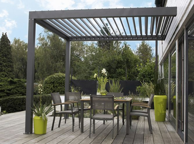 17 meilleures id es propos de pergola acier sur. Black Bedroom Furniture Sets. Home Design Ideas