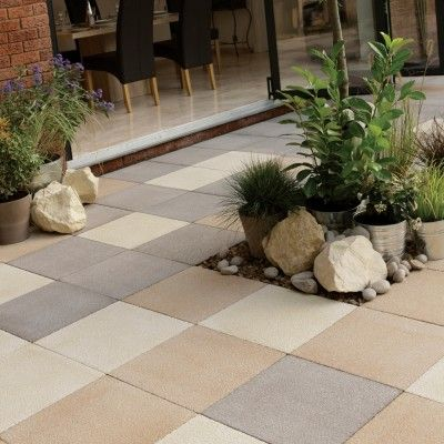 Exceptional StoneFlair By Bradstone Panache Paving Cream Textured 450 X 450 40 Per Pack Pictures