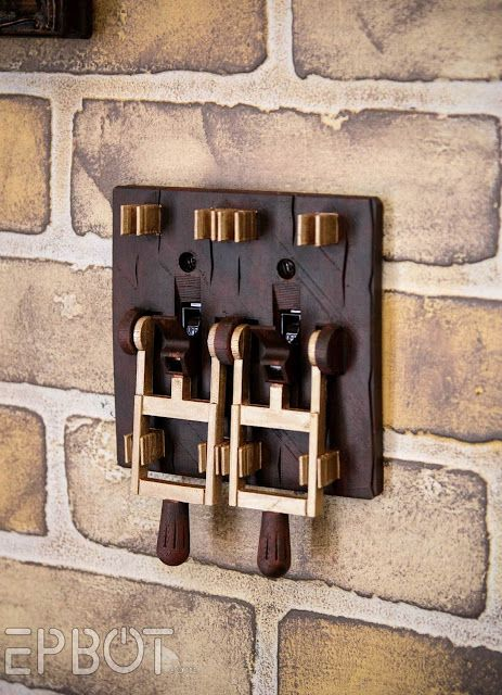 EPBOT's painted version of the Frankenstein light switch