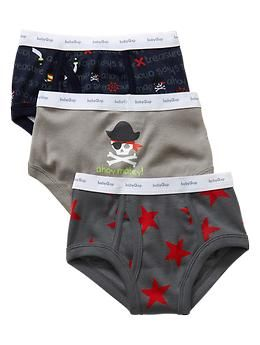 Pirate underwear (3-pack) | Gap They usually have fun themes that little boys like. My son has science ones. Very comfortable.