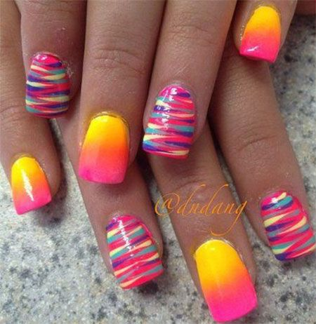 We love these sunset nails! For all your nail needs check out the closest Duane Reade.
