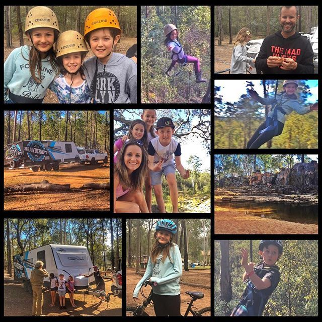 Another awesome weekend adventure with the family.... Flying fox, high ropes course, rc cars, mountain bikes, water hole.... What a great place! .