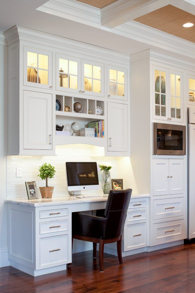 Boston Small Kitchen Desk Ideas With Traditional Bulletin Boards Home Office And Open Shelves Kitchen Office Nook Kitchen Desk Areas Home Desk