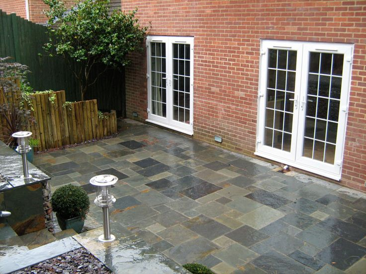 slate patio | Backyard Ideas | Pinterest